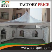 Tente d'exposition équitable en aluminium avec tissu ignifuge et porte roulante