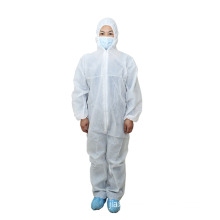 Non Woven Coverall with Waterproof, Dustproof and Anti-Static for Working Place