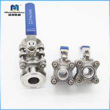 Válvula de bola sanitaria del tamaño modificado para requisitos particulares del acero inoxidable de alta calidad