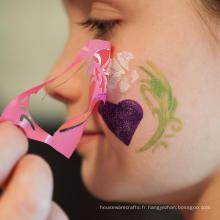 Stencil Set Safe sur la peau Pochoirs réutilisables