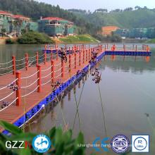marine plastic floating water deck platform for resort