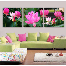 3 Panel Wall Art Oil Painting Lotus Painting Home Decoration Canvas Prints Pictures for Living Room Framed Art Mc-262