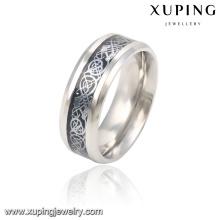 13785 Fashion Cool anillo de dedo de plata de acero inoxidable plateado para hombre