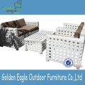 White Wicker Outdoor Side Sunbed med baldakin