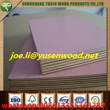 A melamina enfrentada do núcleo 18mm do álamo contra a madeira compensada, madeira compensada enfrentada papel da melamina