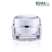 2017 Luxury Acrylic Double Jar White Jar for Cosmetic Packaging