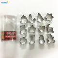 Metal 12pcs Cookie Biscuit Cutter Set De Noël