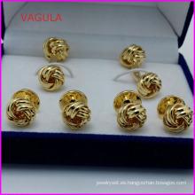 VAGULA calidad venta por mayor nudo vigas Collar botones gemelos Hl161284