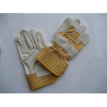 Cow Split Leather Full Palm Leather Work Glove-3056