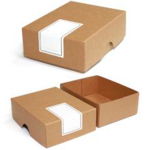 Бумажные подарочные коробки из картона натурального коричневого крафта