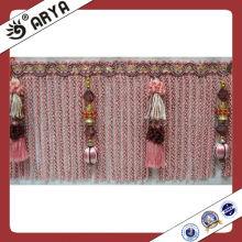 Cortina cortando franja de lingotes para decoração de roupas e cortinas
