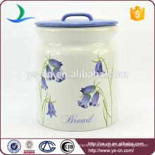 YSca0050-01-3 grande azul canister conjuntos para armazenamento de pão