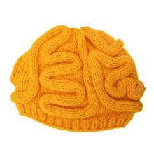 Handgestrickte Brain Hat Beanie, handgemachte Wintermütze