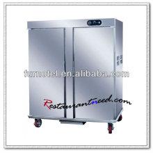 K112 Cabinet électrique de réchauffeur de nourriture de 2 portes en acier inoxydable