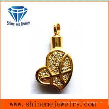Colgante del corazón del oro de Rhinstone del nuevo diseño Collar