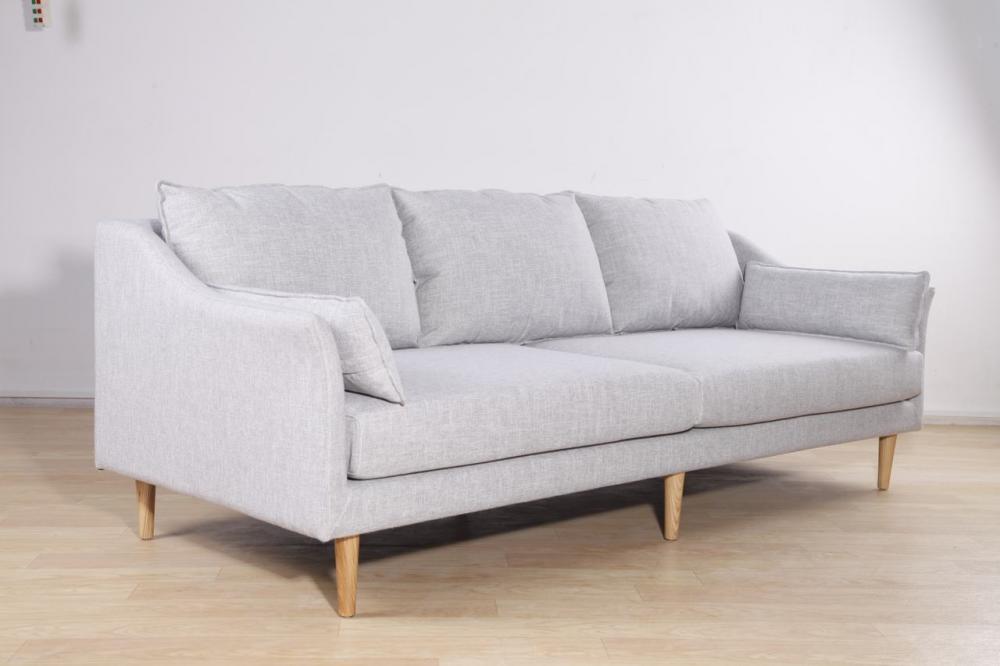3 Seat Modern Sofa In Fabric
