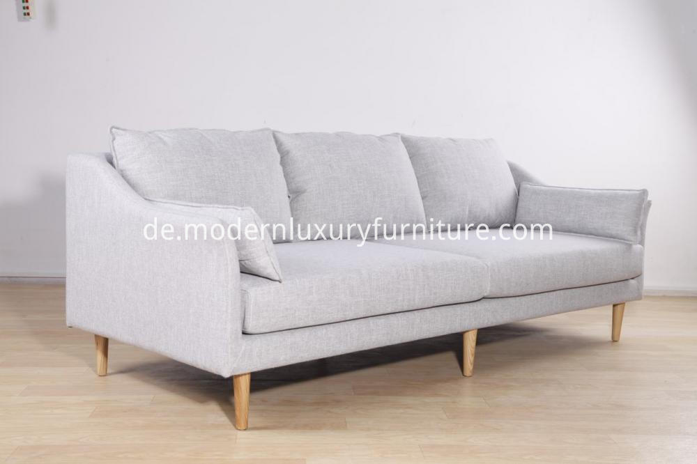 3 Seat Modern Sofa In Fabric