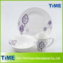 Vajilla China de la porcelana del estilo de país 12PCS