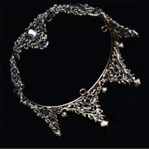 Coroas de cristal por atacado da rainha nupcial redonda completa