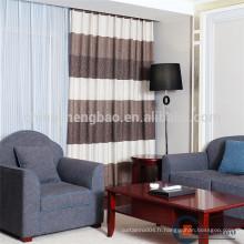 Rideaux et rideaux modernes modernes en lin de patchwork en lin
