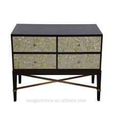 CANOSA 2016 Mãe dourada de pérola madeira embutida Armário de armazenamento mobiliário sala de estar