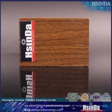Revestimento de madeira de imitação alto do pó da transferência térmica de efeito