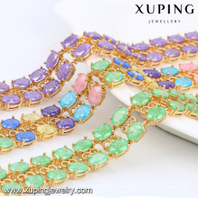 74467 Xuping Trendy In Stock Crystal Stone Jewelry Rows Bracelet