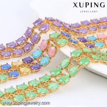 74467 Xuping Trendy In Stock Pulseira de linhas de jóias de pedra de cristal