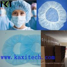 Fourniture médicale Kxt-Bc03 de fournisseur de stock de chapeau de bouffant de Bouffant jetable