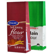 Cheaper Flour Paper Bag, Low Price, Fast Delivery, Kraft Paper, Green Material, 1-6 Color Print
