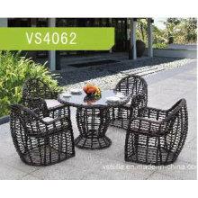 Jardim de vime PE Outdoor Dining Set