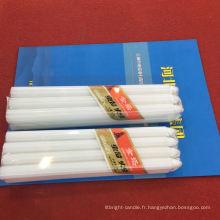 Bougie de ménage blanche longue en forme de pilier