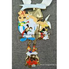 Personalizado Fundição com Medalha Esmaltada Pendente Pendurada