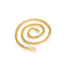 Collar de cadena de cuerda de chapado en oro 18k cobre nueva llegada