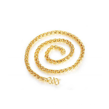 Nova chegada de cobre 18k colar de corrente de ouro chapeamento de corda