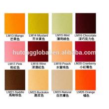 umweltfreundliche Lederfarben