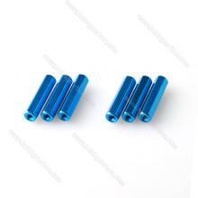 Espaciadores de aluminio coloridos hexagonales roscados M3 para sujeciones FPV