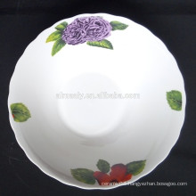 round personalized porcelain bowls