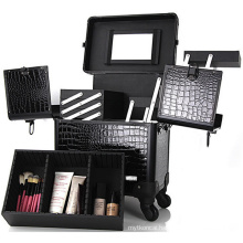 Extensible Trolley Cosmetic Case with Trays