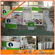 cabina de promoción de ventas que hace publicidad de la cabina de exhibición para la feria del expost y la demostración comercial