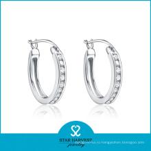 Серьги обруча серебра свадьбы (SH-E0235)
