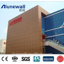 Panneaux composés décoratifs de cuivre de métal d'Alunewall pour le revêtement de mur avec le meilleur prix