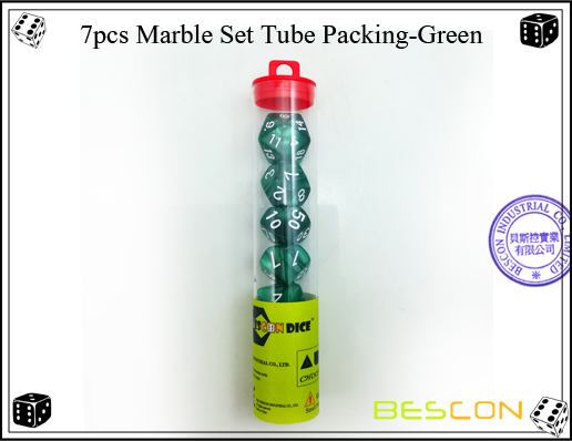 7pcs Marble Set Tube Packing-Green-3