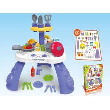 2015 Newest Plastic Children Kitchen Tableware Play Set (10227695)