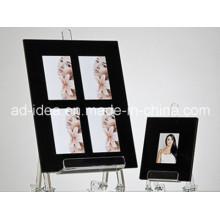 Soporte de exhibición de acrílico negro del marco de la foto