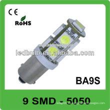La alta calidad 9 SMD 12V ba9s llevó la iluminación auto