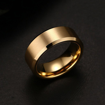 Wholesale mens band pernikahan tungsten emas