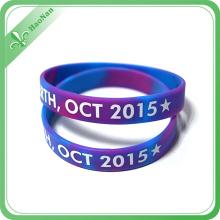 Custom Fashion Promotion Product Rubber Bracelet Silicone Wristband