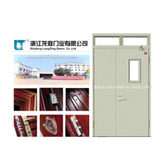 Double Swing Leaf Fire Rated Steel Door, Fireproof Door