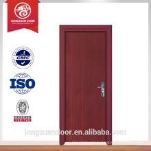 Vente populaire mdf porte intérieure porte en bois simple pvc flush door